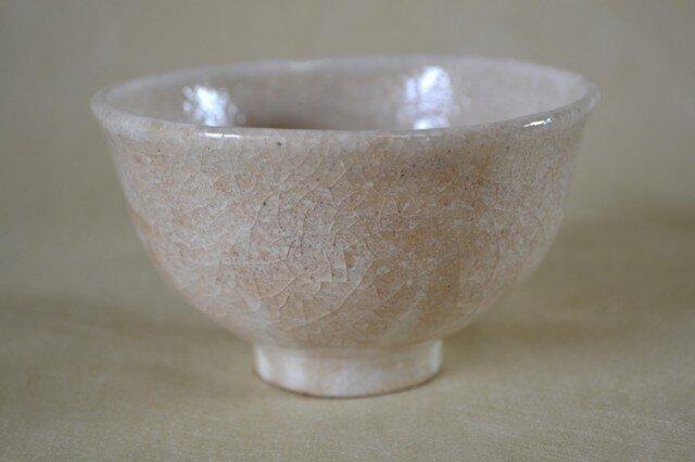 手ひねりのお碗(白化粧+透明釉)の画像1枚目