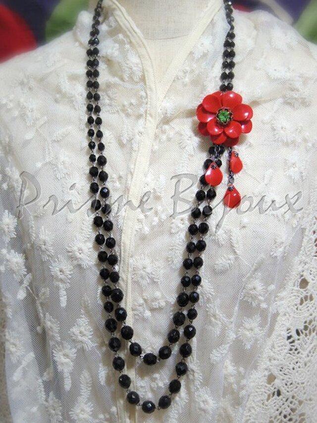 """Necklace & Brooch """"Sasanqua""""の画像1枚目"""