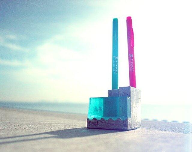 """小さな海のペンスタンド。 """"Pool-B""""(ブルー)の画像1枚目"""