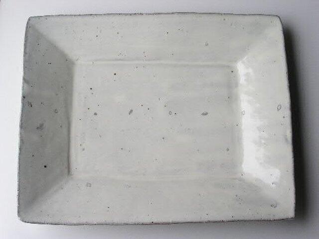 粉引種子紋四方皿 大の画像1枚目