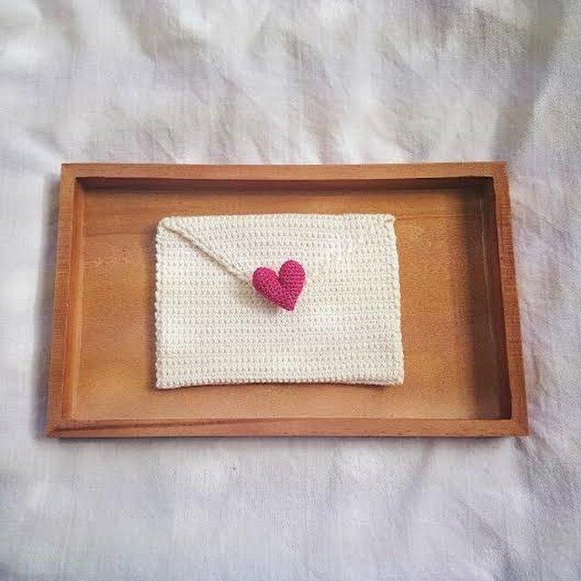 """love letter"" ミニポーチの画像1枚目"