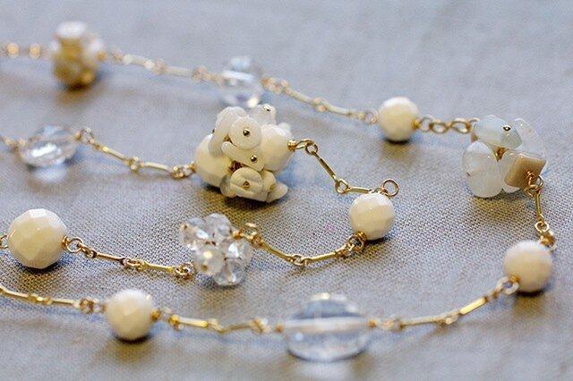 White Bouquet : Opera(necklace)の画像1枚目