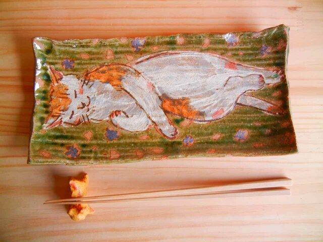 猫の寝る板皿の画像1枚目