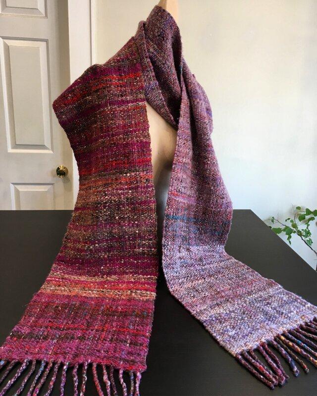 手紡ぎ 織り マフラーの画像1枚目