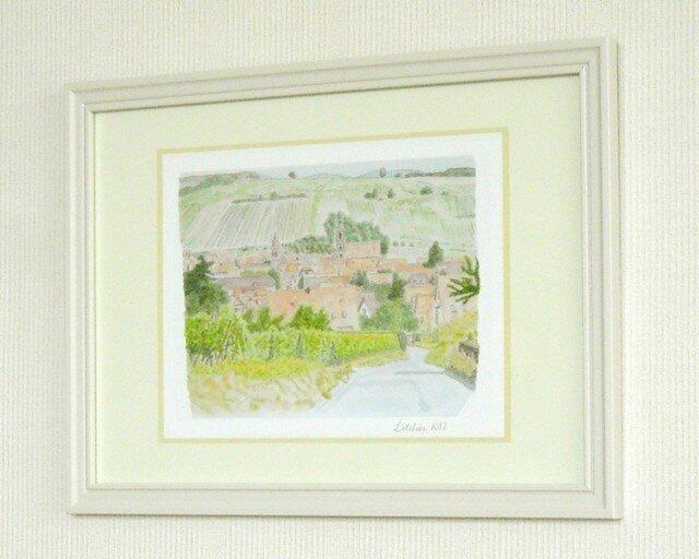 【気軽にA4額入りアート】アルザスの村、リクヴィルの画像1枚目
