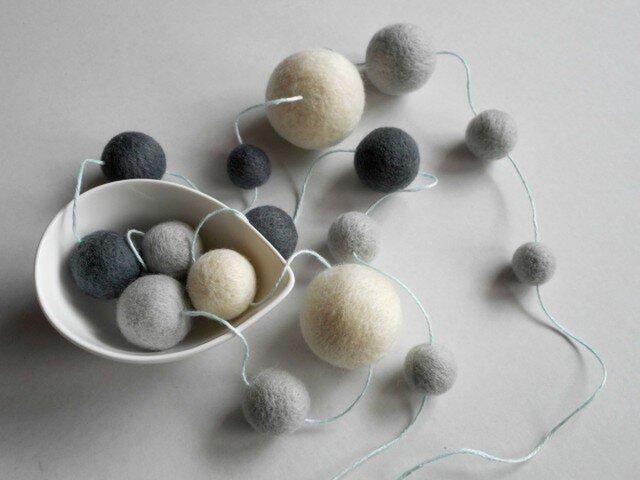 【M.Y様ご予約品】Felt ball garlandの画像1枚目