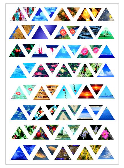 透きとーる三角形の写真シールの画像1枚目