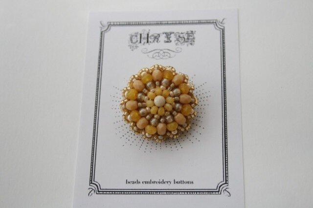 ビーズ刺繍のボタン no.1505の画像1枚目