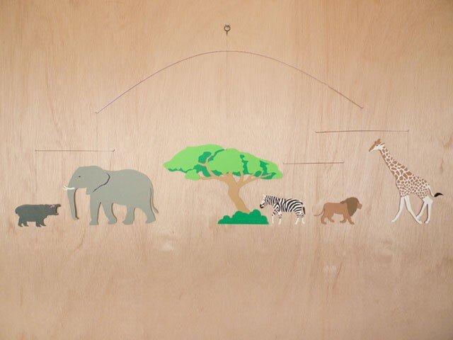 切り絵モビール 『アフリカ』の画像1枚目
