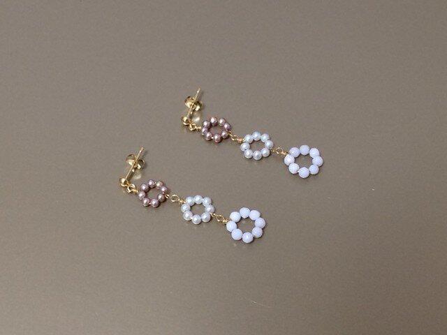 K18 花の鎖のピアスの画像1枚目
