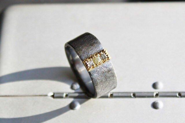 Raw Dia Cube Ring WideA 受注生産の画像1枚目