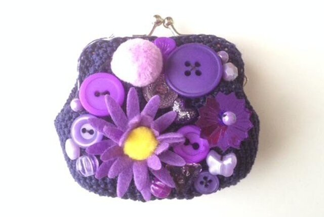 紫色のがまぐちの画像1枚目