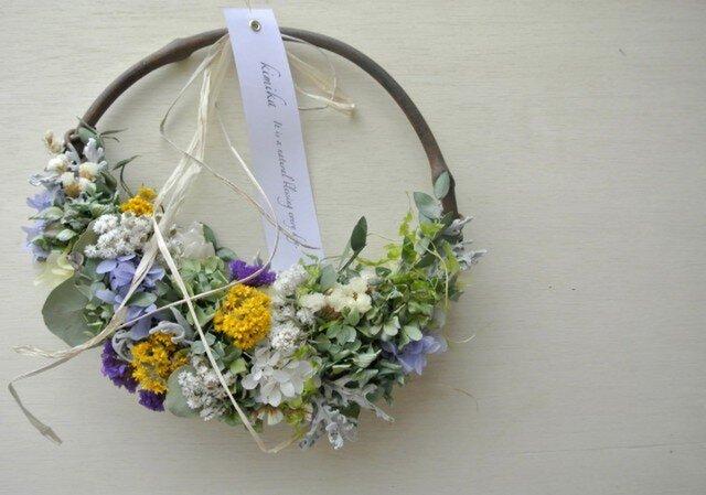 hanging basket wreath.esの画像1枚目