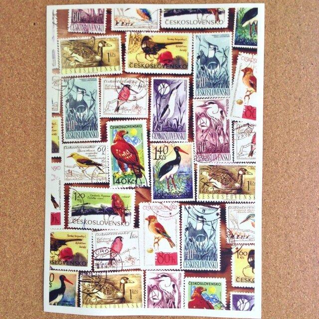 used切手柄便箋(鳥)の画像1枚目