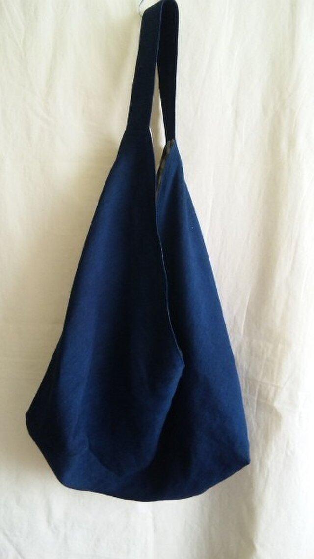 【sale】手織りのあずま袋ショルダーバッグ(藍)の画像1枚目
