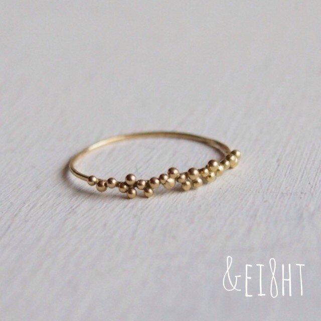 【再販】K18 tsubu ringの画像1枚目