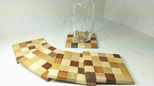 寄木コースターの画像1枚目