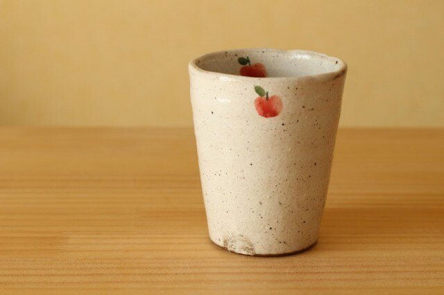 粉引きのりんごフリーカップ。の画像1枚目