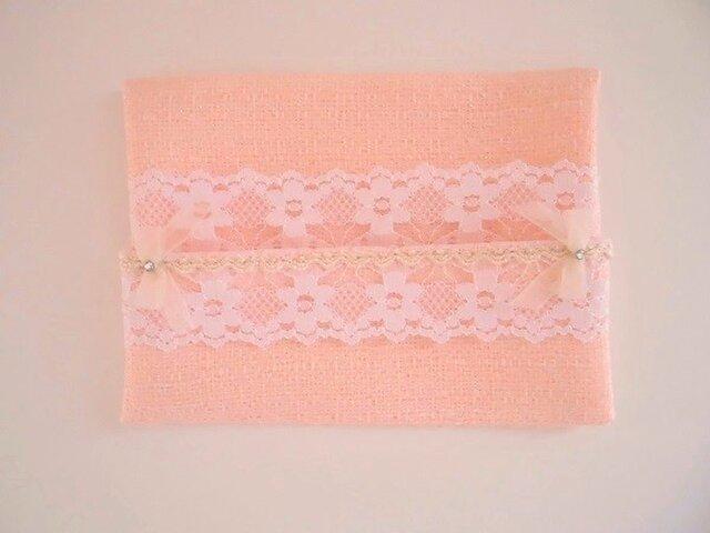 かわいいピンクツイードのポケットティッシュケースの画像1枚目