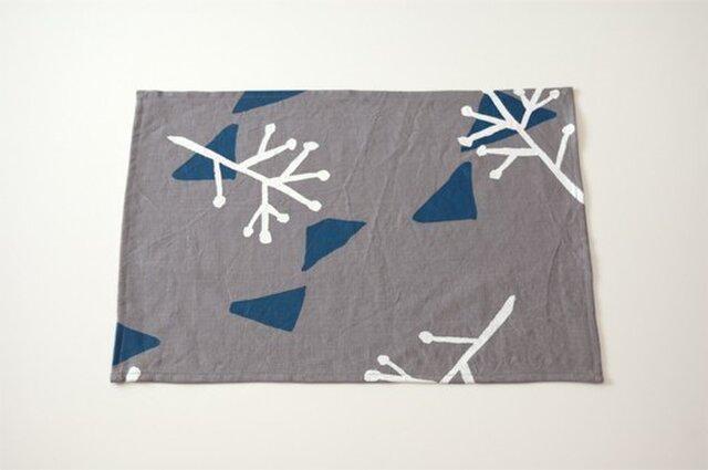 Place mat(gray / illustration)の画像1枚目