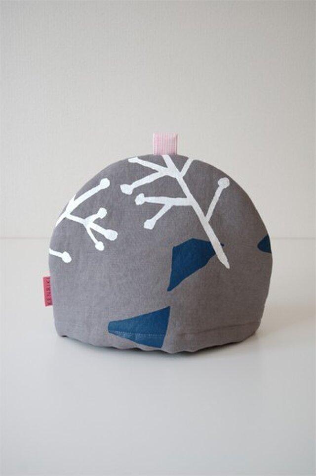 Tea cozy(gray/illustration)の画像1枚目