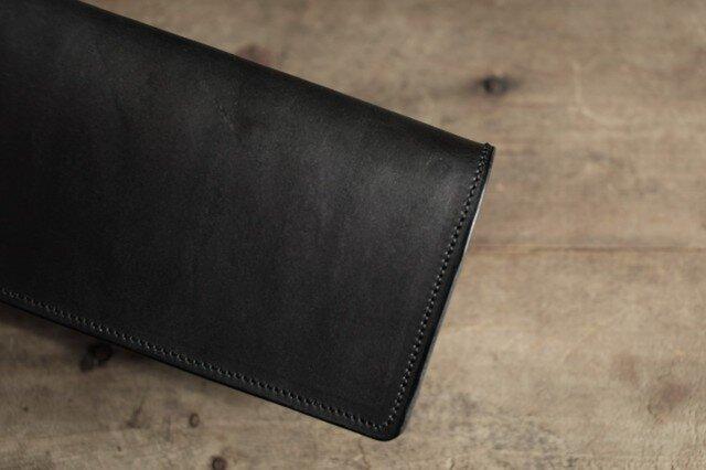 特別オーダー   墨藍染革長財布の画像1枚目