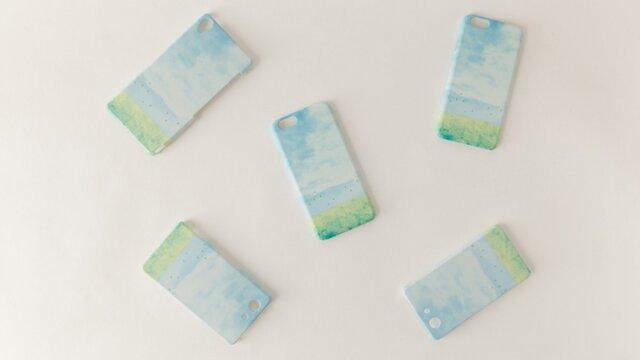 [受注制作] iPhone/Galaxy/Xperia Case「水色の、空」の画像1枚目