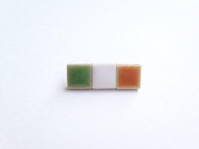 受注制作 アイルランド国旗のピンバッジの画像1枚目