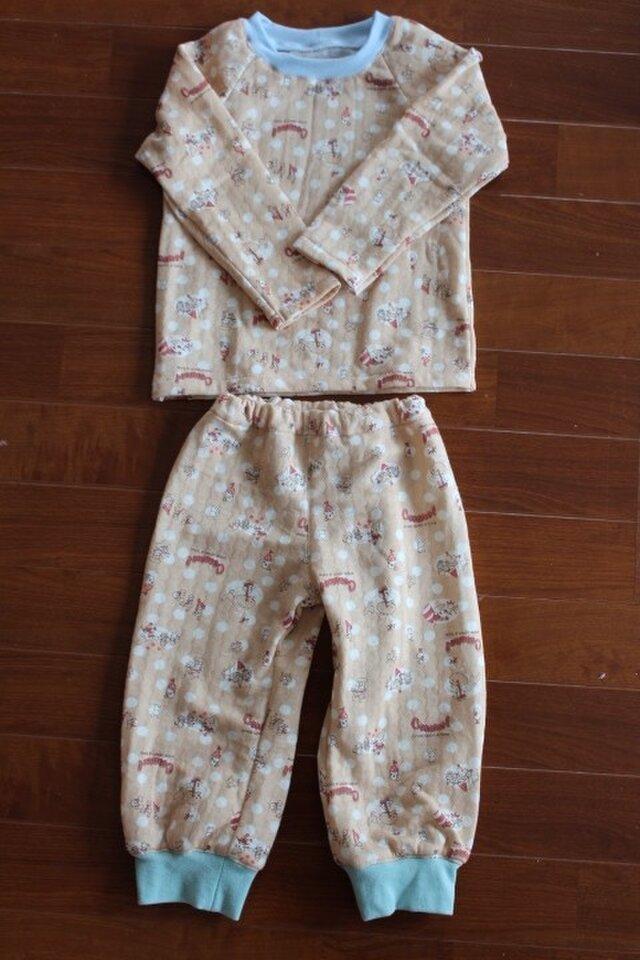 90サイズ☆接結ニットパジャマの画像1枚目
