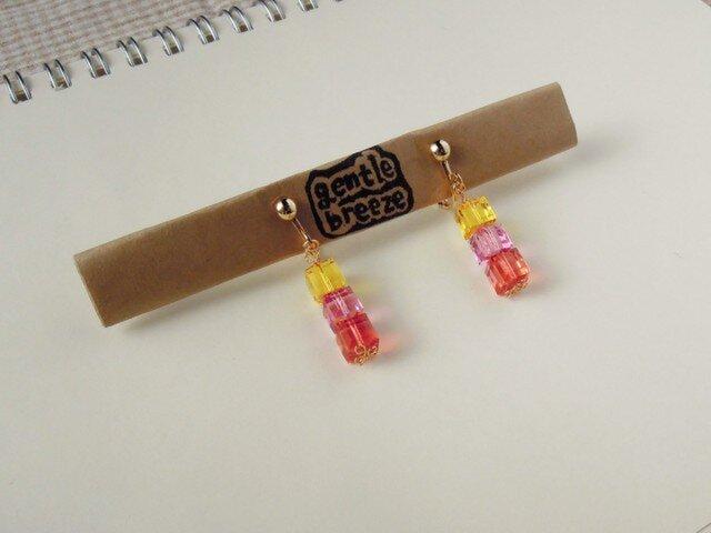 キャンディキューブのイヤリングの画像1枚目