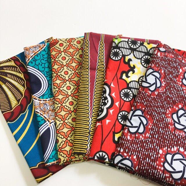 カットクロス(約55×45cm 前後します)アフリカ布 福袋6枚入りの画像1枚目