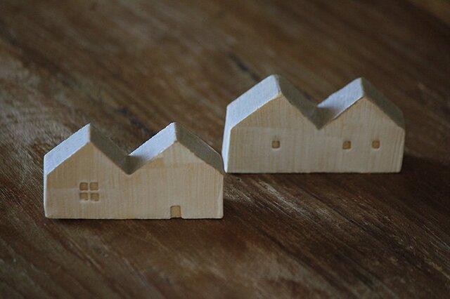家の形の箸置き(2つ屋根グレイ)の画像1枚目