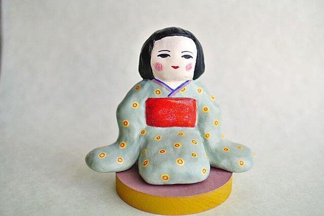 着物のでこ様人形の画像1枚目