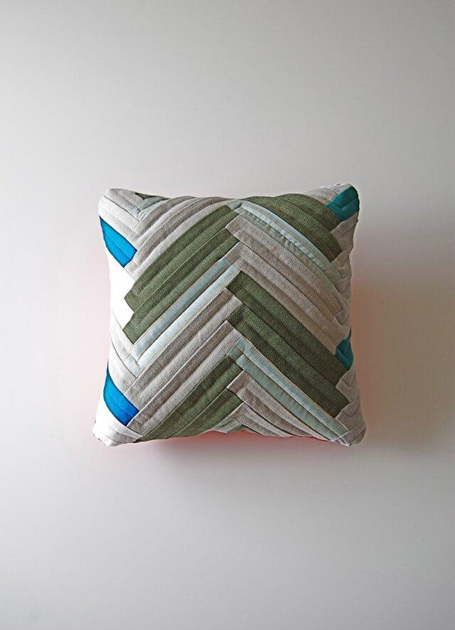 cushion / herringbone (gray)の画像1枚目