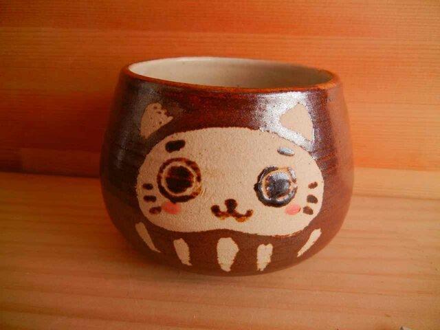 猫だるまカップ:4の画像1枚目