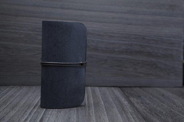 [オーダー品] 蝋引き革のパス・カードケースの画像1枚目