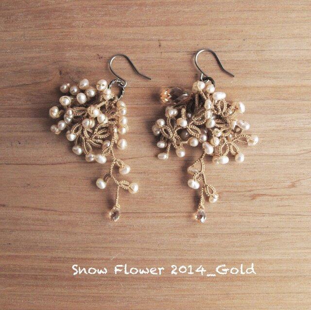 受注*Pierces, Snow Flower2014_goldの画像1枚目