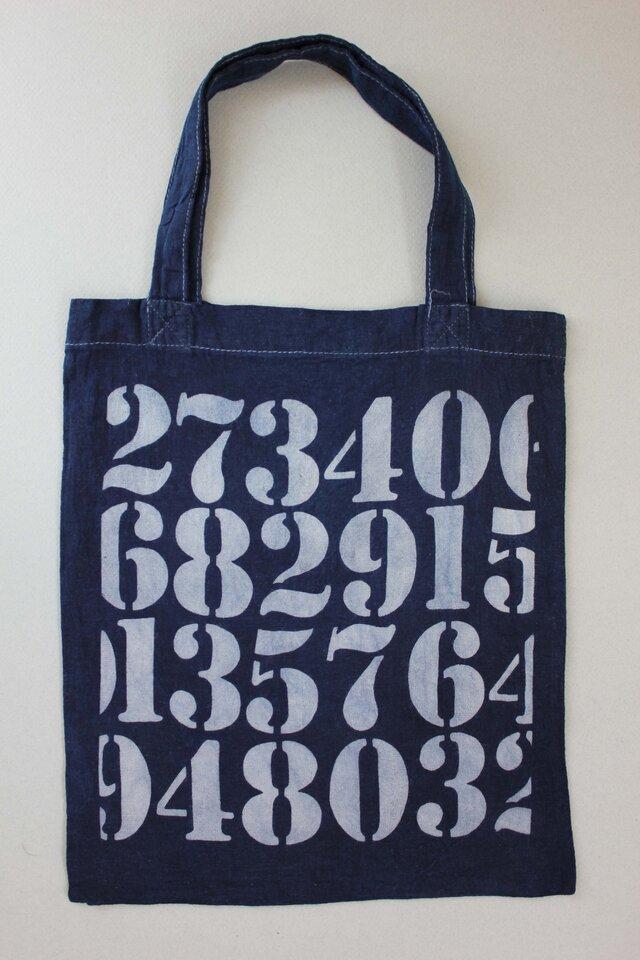 数字のトートバッグの画像1枚目