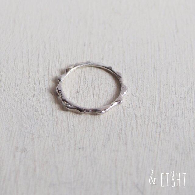 【再販】- Silver - Melting Ringの画像1枚目