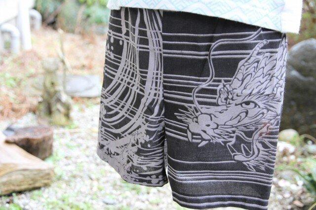 手拭い龍 子供ズボン(80サイズ)の画像1枚目