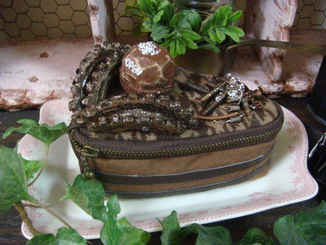 チョコレートケーキのポーチの画像1枚目