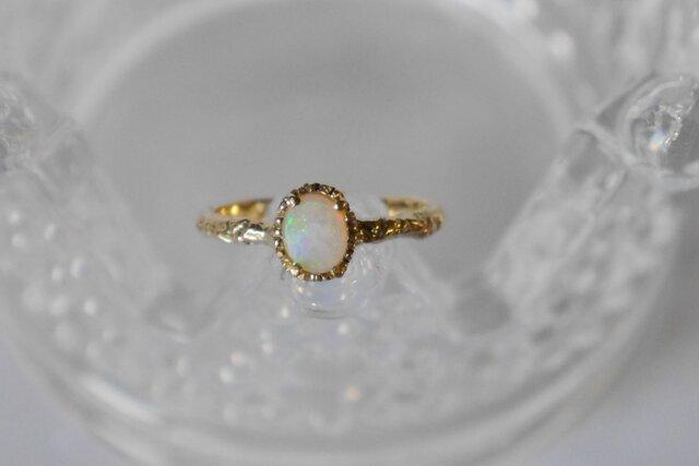K10★Crystal opal ring ★の画像1枚目