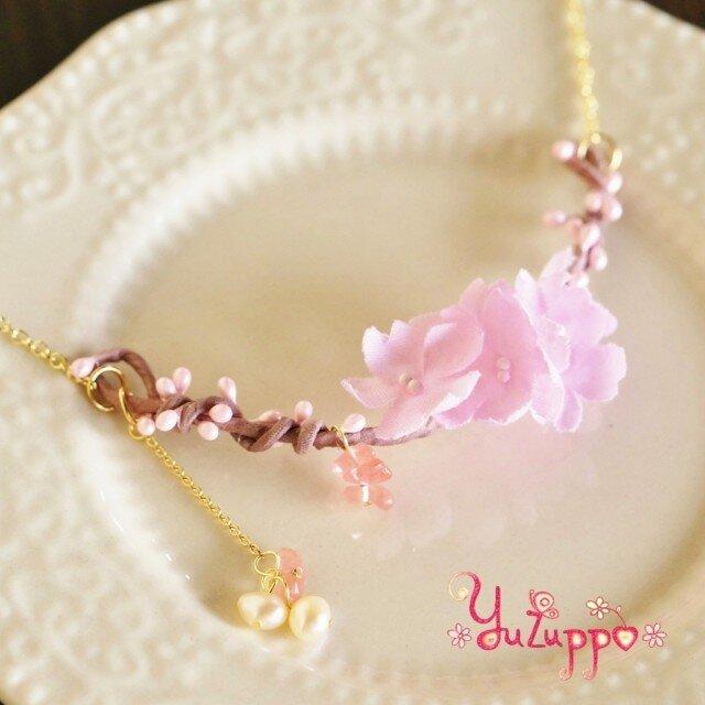 桜ひと枝のネックレスの画像1枚目