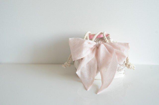 トワルドジュイ リボンマリンバッグ ピンクの画像1枚目