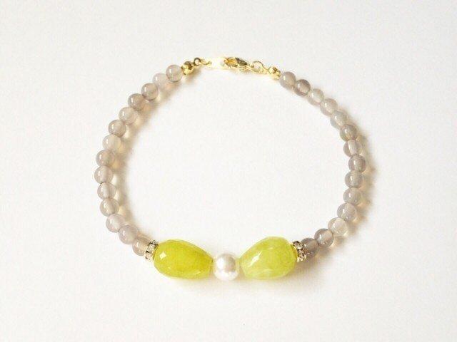 Bow bracelet (yellow green)の画像1枚目