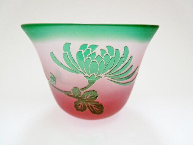 緑の菊 ぐい呑みの画像1枚目