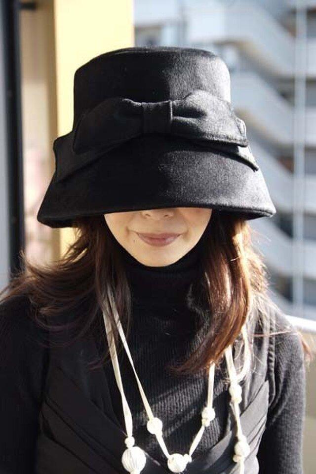 オードリー気分のお帽子の画像1枚目