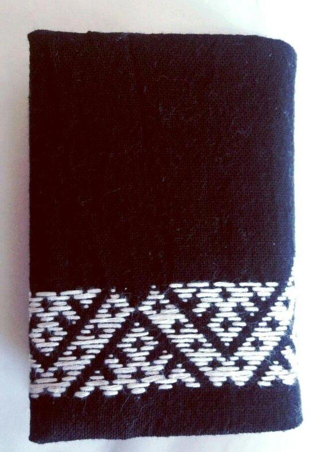 こぎん刺し カードケース(24ポケット)③ あずみ野木綿の画像1枚目