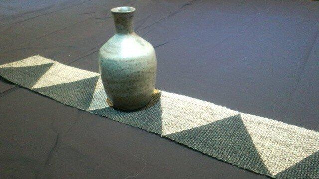 麻のテーブルセンターギザギザの画像1枚目