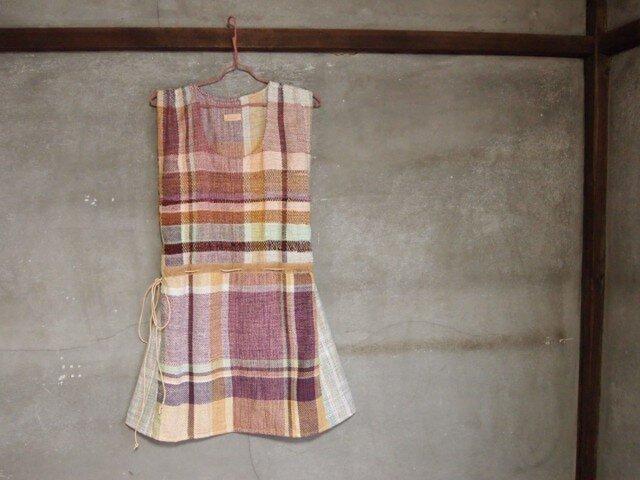 手織り/cottonワンピース ひらり△Aライン(+orimi)の画像1枚目